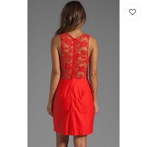 ✨BB Dakota✨ Mandy Lace Dress in Poppy Red
